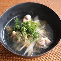 鶏ごぼうのスープ