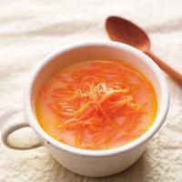 人参とミルクのレンジスープ