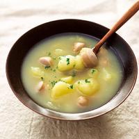 つぶしじゃがいもとウインナーのスープ