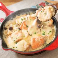 里芋と秋鮭のみそチーズ焼き