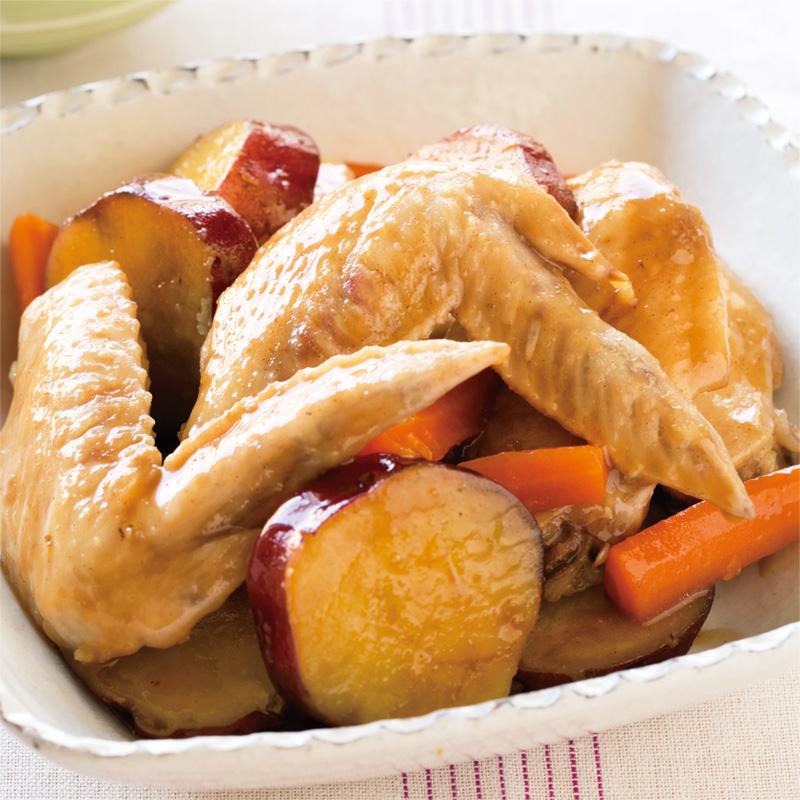さつまいも 鶏肉 煮物