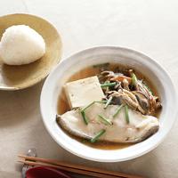 かれいときのこ、豆腐の蒸しスープ