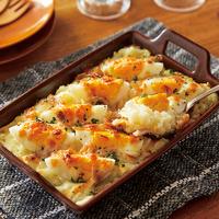 マッシュポテトと卵のチーズ焼き