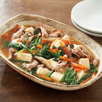 ほうれん草と豆腐のトロッと煮