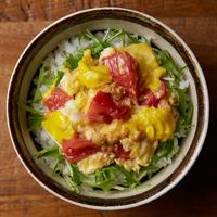 トマトとツナ、卵の洋風丼