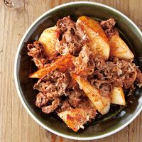 長芋と牛肉のおかか醤油炒め
