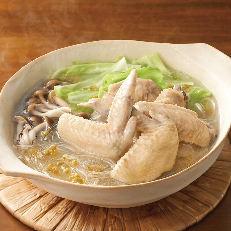 鶏手羽のゆずこしょう鍋