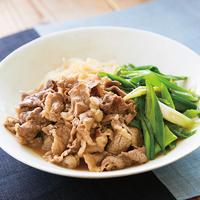 牛肉と九条ねぎのさっぱりすき煮