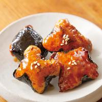 鶏ひき肉ののり焼き