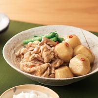 里芋と豚肉のピリ辛みそ煮