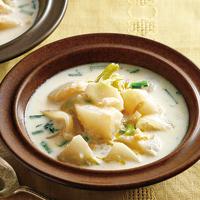 かぶと玉ねぎのジンジャーミルクスープ