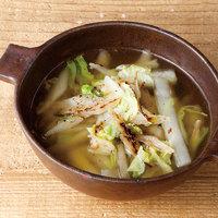ごぼうと白菜のガーリックスープ