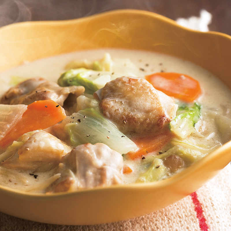 白菜と鶏肉のクリーム煮 だいどこログ 生協パルシステムのレシピサイト