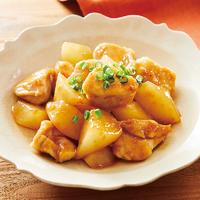 鶏ムネ肉と大根のオイスターソース蒸し焼き
