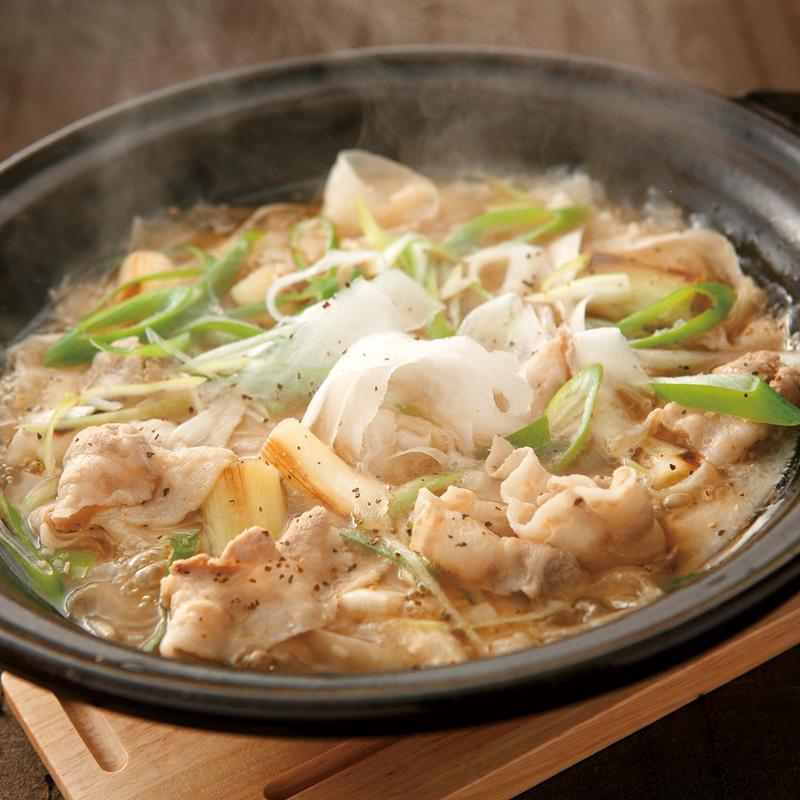 豚バラとひらひら大根の中華香味鍋