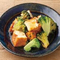 ブロッコリーと厚揚げの甘辛レンジ煮