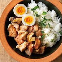 レンジ煮豚丼