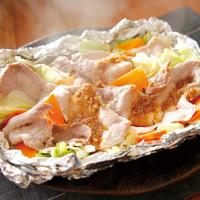 豚モモ肉とキャベツのホイル焼き