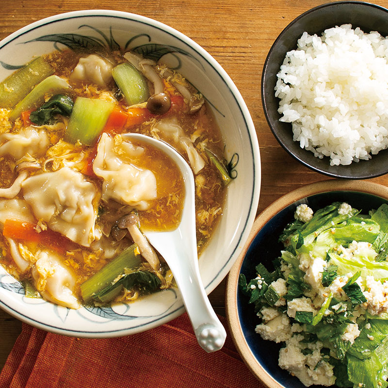 スープ の 水 餃子