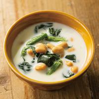 ほうれん草とお豆のミルクスープ