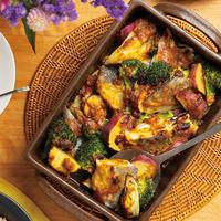 真だらと野菜のオーブン焼き みそカレー味