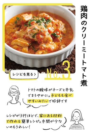 no.3 鶏肉のクリーミートマト煮