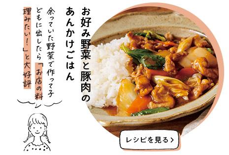 お好み野菜と豚肉のあんかけごはん