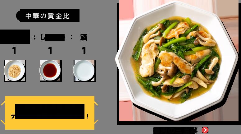 中華の黄金比 鶏肉の三宝菜