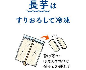長芋はすりおろして冷凍