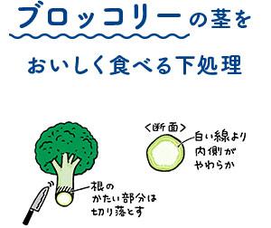 ブロッコリーの茎をおいしく食べる下処理